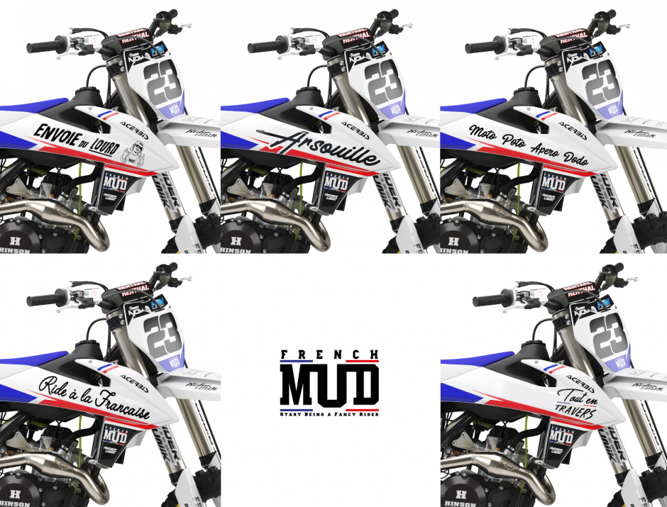 KIT DECO MOTOCROSS KTM FRENCH MUD 4