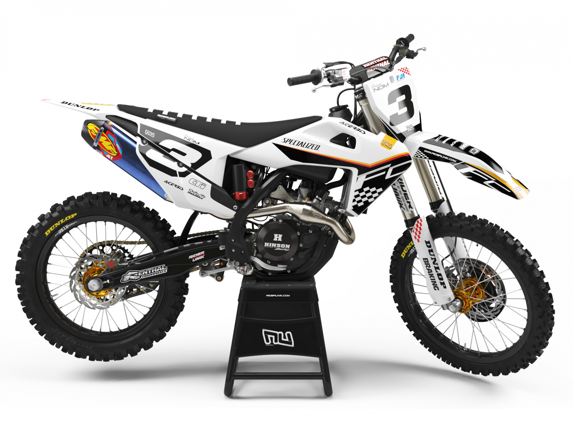 KIT DECO MOTOCROSS HUSQVARNA CHECK BLACK