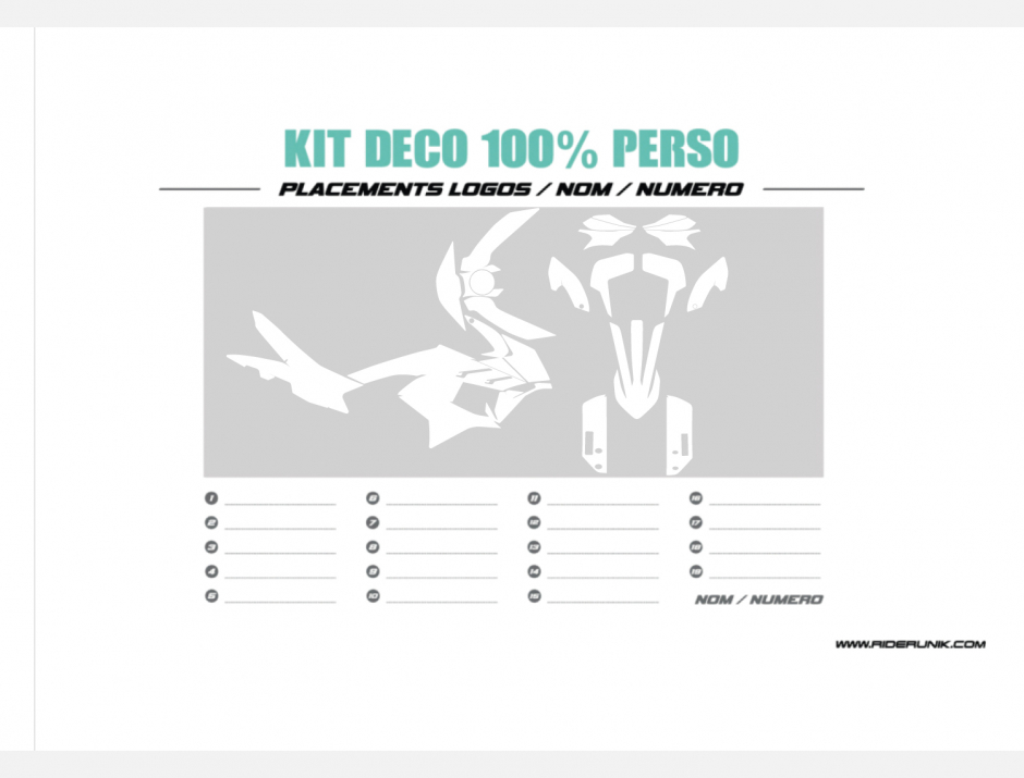 KIT DECO KTM ADVENTURE 100% PERSO 1